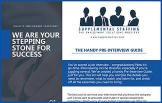 Pre-interview guide offer